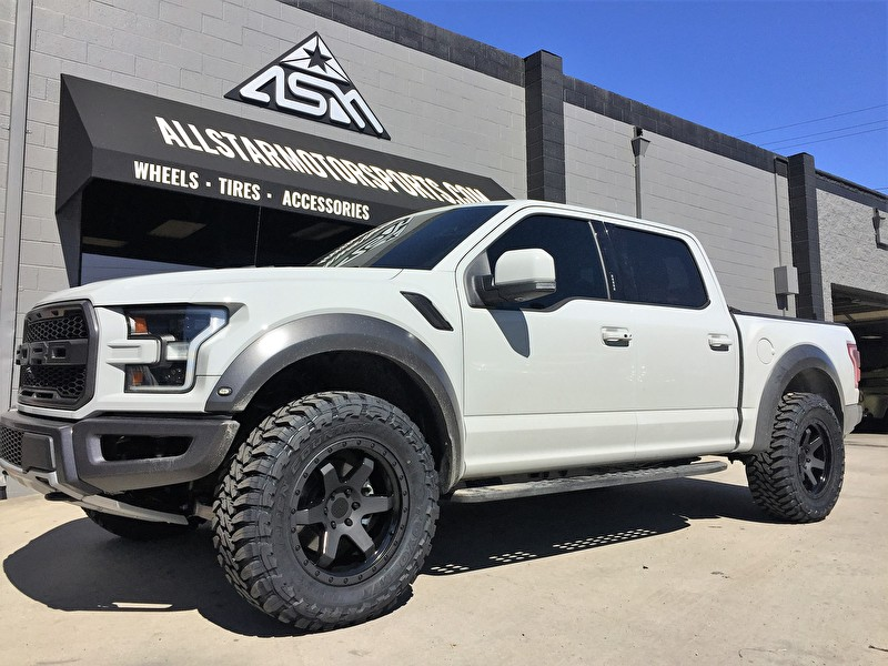 Brand New White Ford F150 Raptor on 20 Inch Rotiform Six and Toyo Open Country M/T Tires