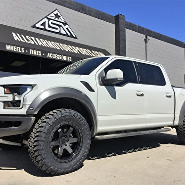 brand  white ford  raptor    rotiform   toyo open country mt tires