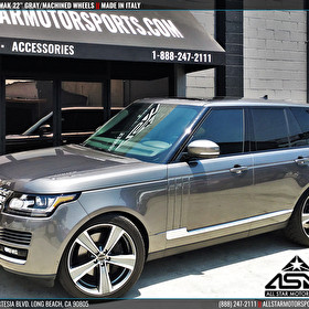"Gray Range Rover | 22"" MAK Wheels Gray Machined 