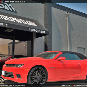 Red Chevrolet Camaro | 22 Inch Niche M164 Anzio Black Wheels