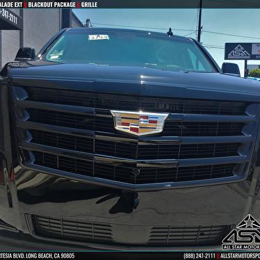 2016 cadillac escalade blackout package grille all for Jstar motors anaheim hills