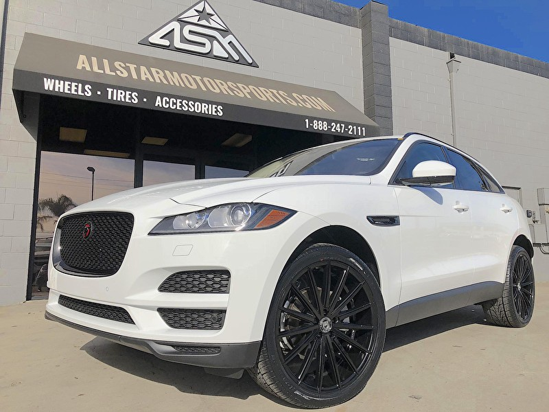 Newport Land Rover | Jaguar F-PACE | 22 Inch Lexani Pegasus Gloss Black Wrapped in Nexen 285/35R22 Tires