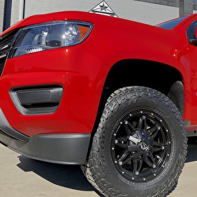 Puente Hill Chevrolet | Chevy Colorado with MaxTrac Leveling Kit | Fuel D531 Hostage 17x9 Black and Falken Wildpeak AT3 265/70R17 Tires