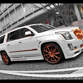 "2016 Cadillac Escalade Rose Gold 26"" Lexani Wheels"