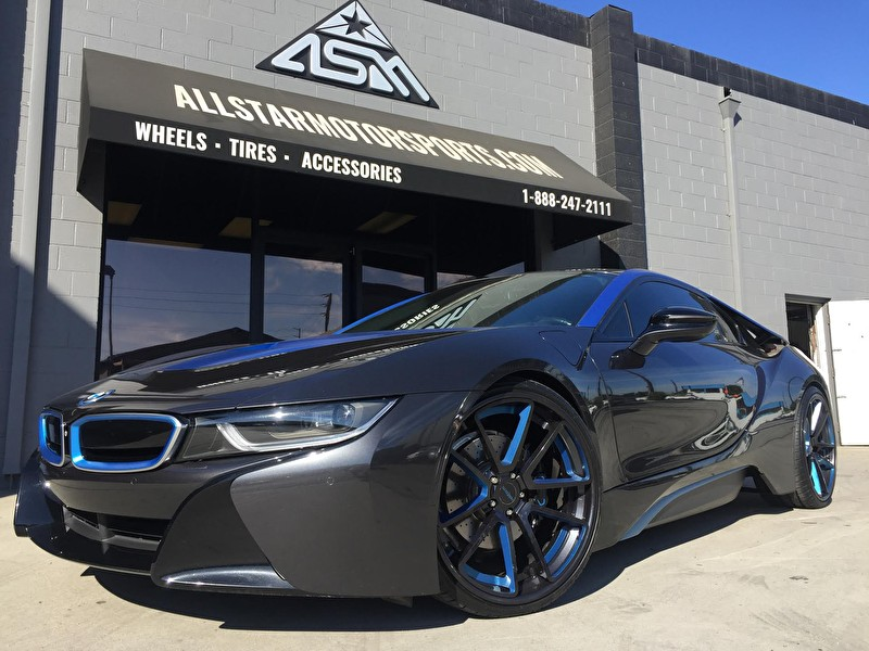Custom BMW i8 with Custom Painted 22 Inch Rotiform Wheels