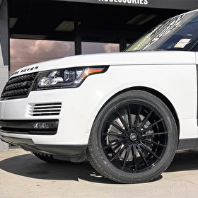 Land Rover Range Rover Full Size HSE | Front Angle Blackout Package with Custom Carbon Kit