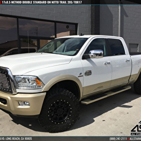 2016 Ram 2500 | 17x8.5 Method Race Wheels Double Standard Black