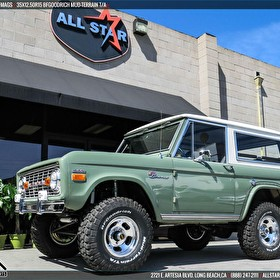 Classic and Clean Ford Bronco on US Mags and BFGoodrich Mud Terrain T/A 35x12.50R15