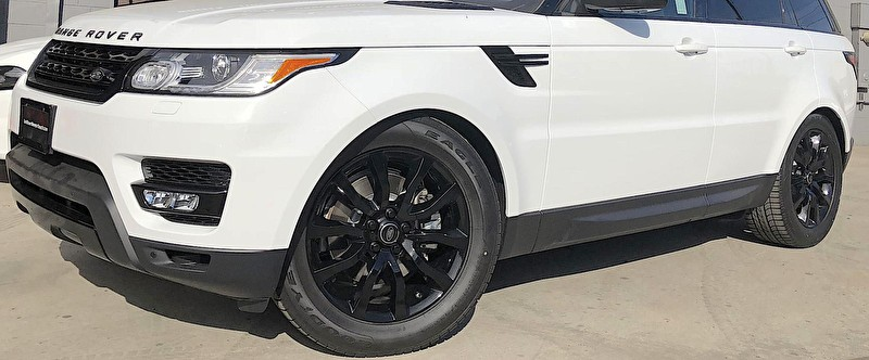 Newport Beach Land Rover | Range Rover Sport Blackout Package | Powder Coated Black Wheels