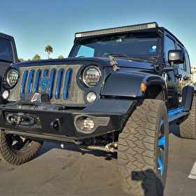 STRUT | Jeep Wrangler 4Dr | STRUT Grille Kit and Wheels | Custom Painted