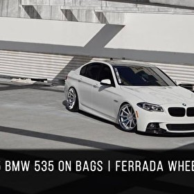 2015 BMW 550 bagged | Ferrada FR4 Machine Silver / Chrome Lip