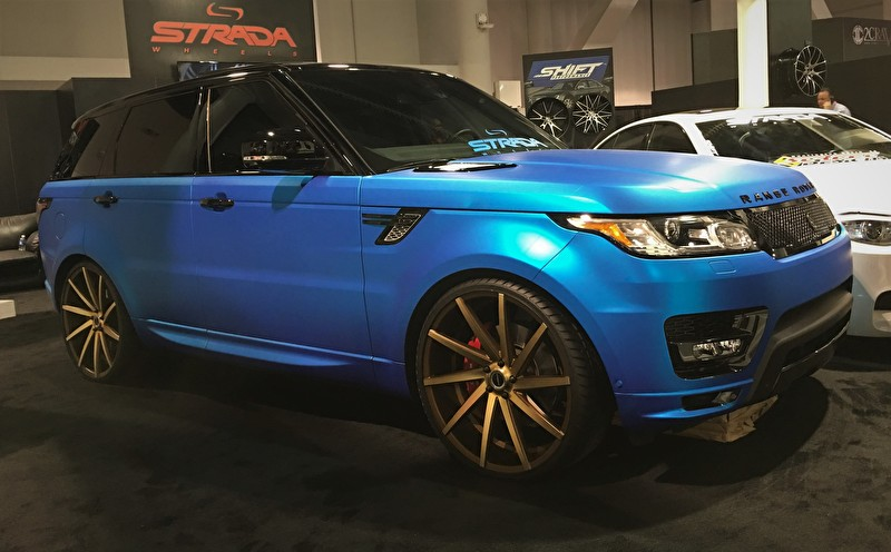 """Lifted Chevy Colorado >> Matte Blue Range Rover Sport Supercharged on 24"""" Strada ..."""