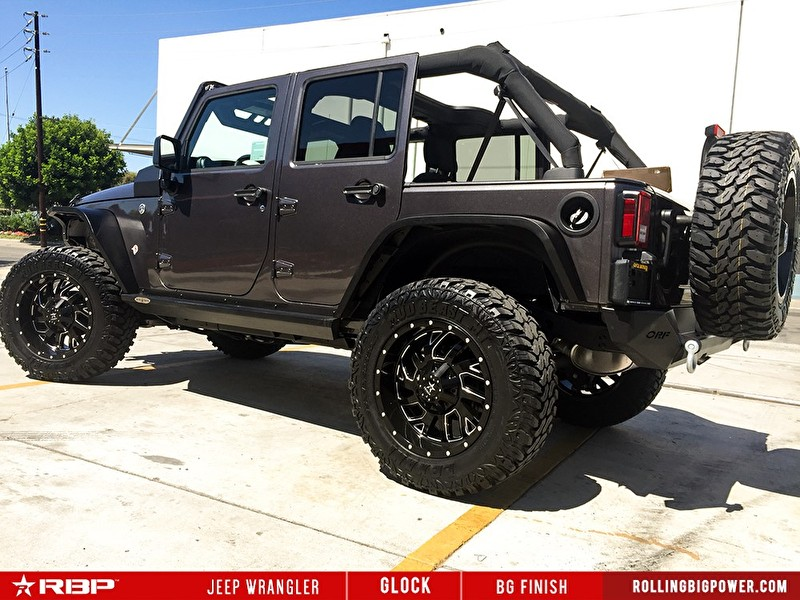 Jeep Wrangler Lifted | RBP Wheels Glock BG Finish Black/Milled | Lexani Mud Beast Tires