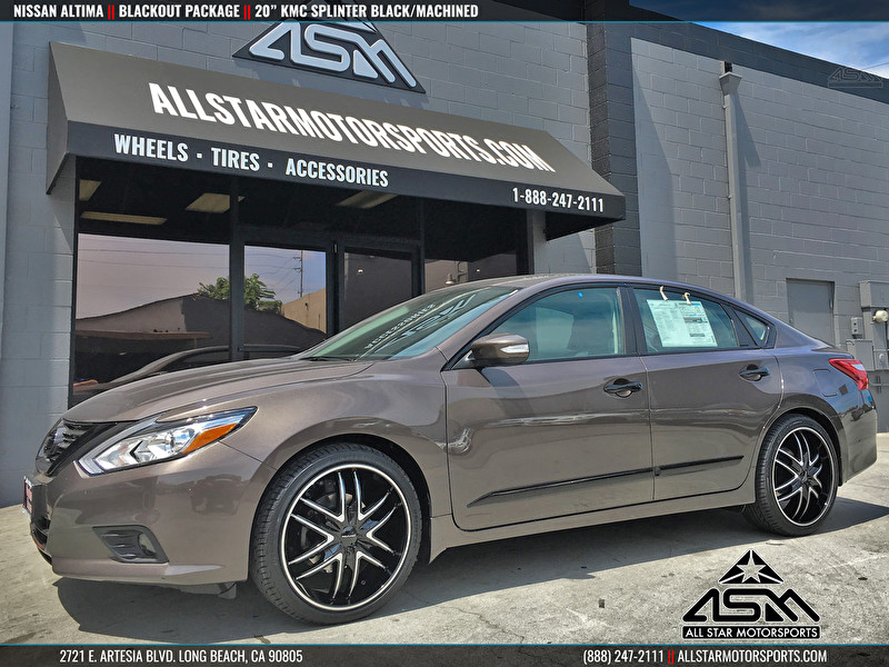 Range Rover Mission Viejo >> 2016 Nissan Altima | Blackout Package | 20 Inch KMC Splinter Black/Machined - All Star ...