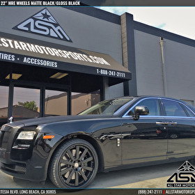 Rolls Royce  | 22 Inch Custom HRE Wheels Matte Black