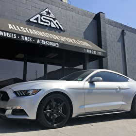 Brand New Ford Mustang Fastback on 20 Inch Azad EL005 All Black