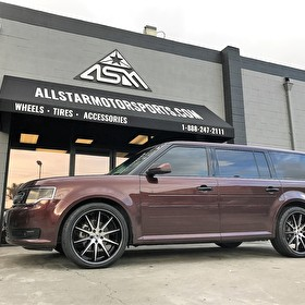 Ford Flex | 22 Inch Asanti Black Label ABL-4 | Pirelli 265/40R22 Tires