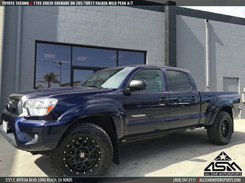 2016 Toyota Tacoma Lifted >> Black Toyota Tacoma | 17x9 XD Series by KMC Wheels XD820 Grenade Black - All Star Motorsports ...