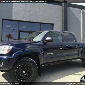 Black Toyota Tacoma | 17x9 XD Series by KMC Wheels XD820 Grenade Black