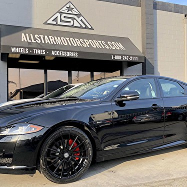 Jaguar Mission Viejo | Blackout Package With Red Trim Custom Calipers | 20  Inch Staggered Sporza