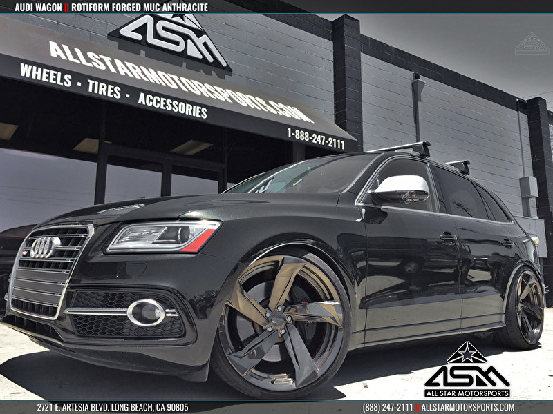 Audi Wagon on Rotiform Forged Wheels MUC Anthracite Finish