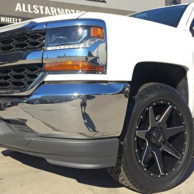 Martin Chevrolet Silverado 1500 with 20x9 Ultra Wheels 205 Gloss Black Milled and Hankook Dynapro A/T 275/55R20 Tires