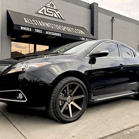 Black Acura TLX | 20 Inch Niche M150 Verona Black Machined with DDT and Nitto NT555 Tires 255/35R20