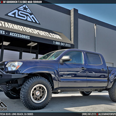 Blue Toyota Tacoma Level Kit Bf Goodrich T A Km2 Mud Tires All