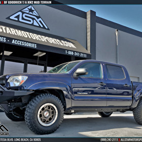 Blue Toyota Tacoma | Level Kit | BF Goodrich T/A KM2 Mud Tires