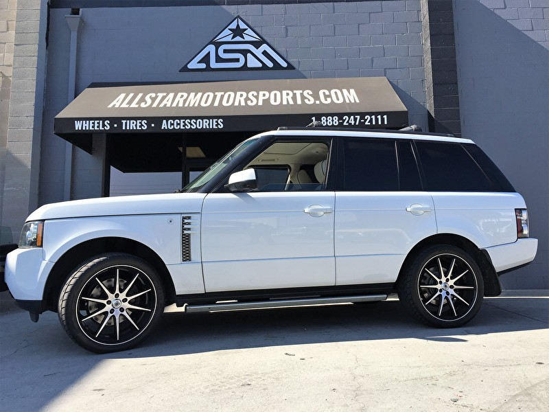 White Range Rover Full Size HSE | 22 Inch Asanti Black Label ABL-4 Black Machined with Black Lip