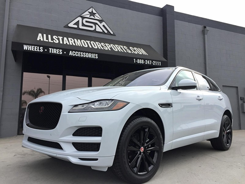 White Jaguar F-PACE | Custom Blackout Package with Powder Coated Wheels