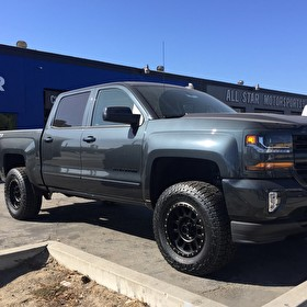 Chevy 1500 Silverado LTZ71 with 4 Inch Ready Lift Kit | 18x9 Method NV Wheels Satin Black | 305/65R18 Falken Wildpeak AT3