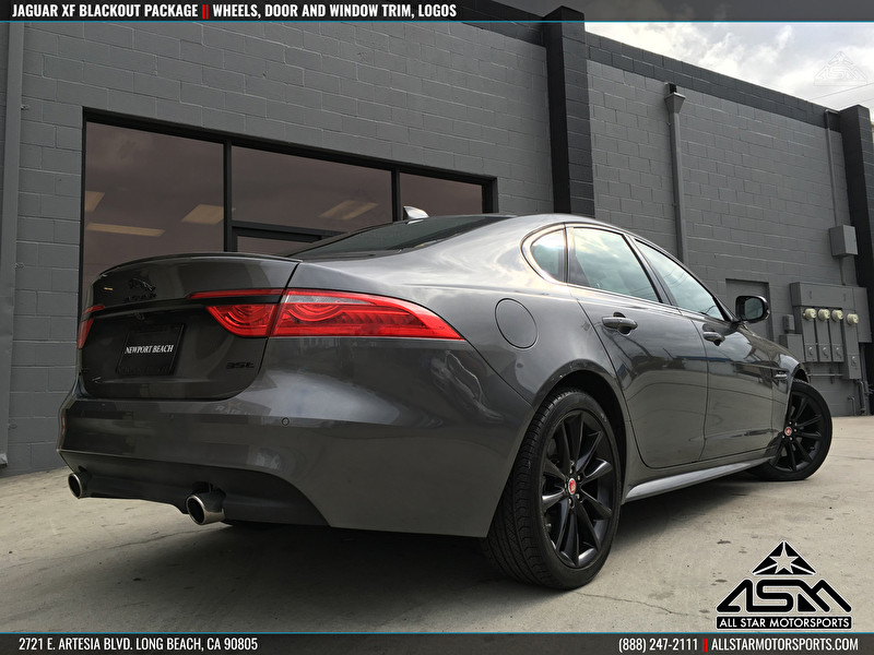 Gray Jaguar XF with Blackout Package - Newport Beach Jaguar