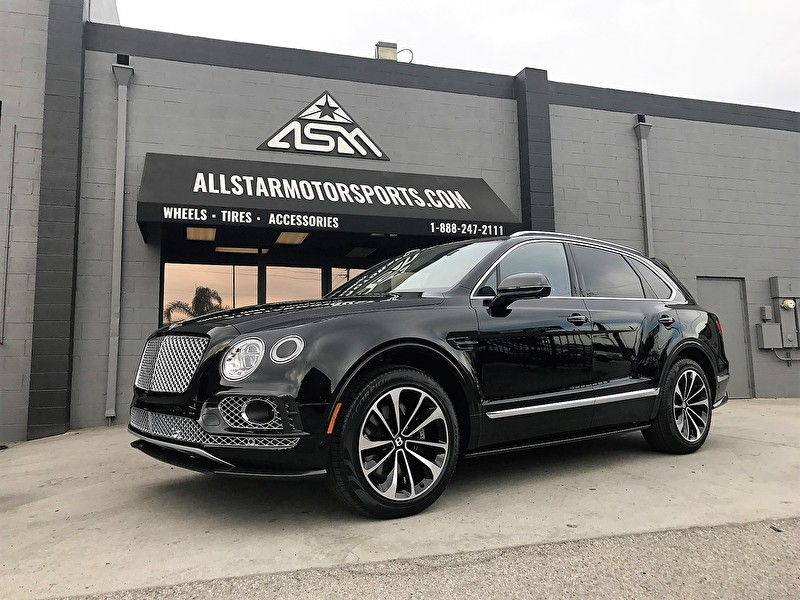 Brand New Black Bentley Bentayga SUV Drops by for the All Star Motorsports Blackout Package