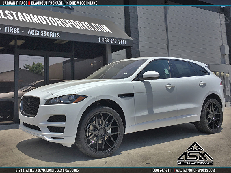 NEW White Jaguar F-PACE Blackout Package on Niche M160 Intake Wheels