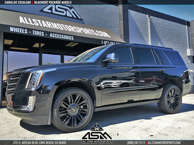 Cadillac Escalade Blackout Package - Powdercoated Wheels