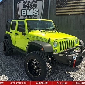 Green Jeep Jk Wrangler Lifted | RBP Assassin Wheels Black Milled | Toyo Open Country M/T Tires