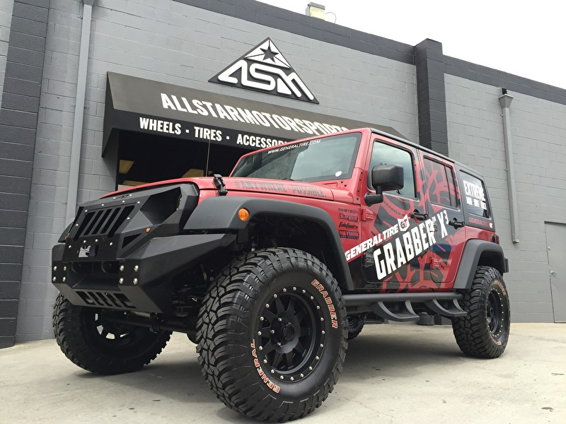 General Tire Stops By! | Jeep Wrangler on new General Grabber X3 Tires