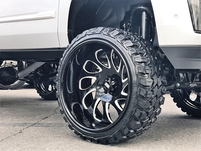 Forged GRID Off-Road 26 Inch Wheels Gloss Black Milled