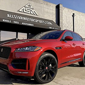 Red Jaguar F-PACE | Blackout Package