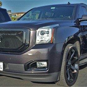 "GMC Yukon XL | 24"" KMC KM651 Slide Wheels Gloss Black 
