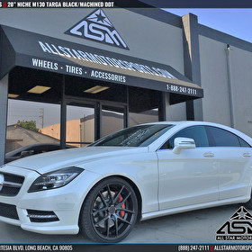 Mercedes Benz CLS | 20 Inch Staggered Niche M130 Targa Black/Machined DDT