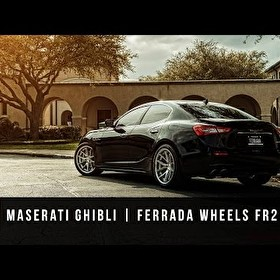 2015 Maserati Ghibli | Ferrada FR2 Machine Silver / Chrome Lip
