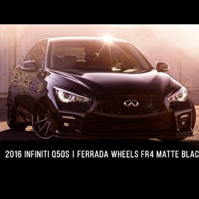 2016 Infiniti Q50s _ Ferrada FR4 Matte Black with a Gloss Black Lip