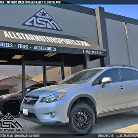 Silver Subaru Crosstek | Method Race Wheels Rally All Black