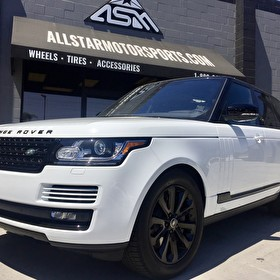 White Land Rover Range Rover | Custom Blackout Package