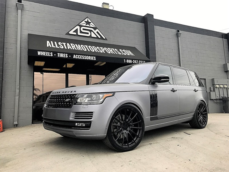 Custom Range Rover Full Size HSE | Matte Graphite Metallic Wrap | Carbon Blackout Kit