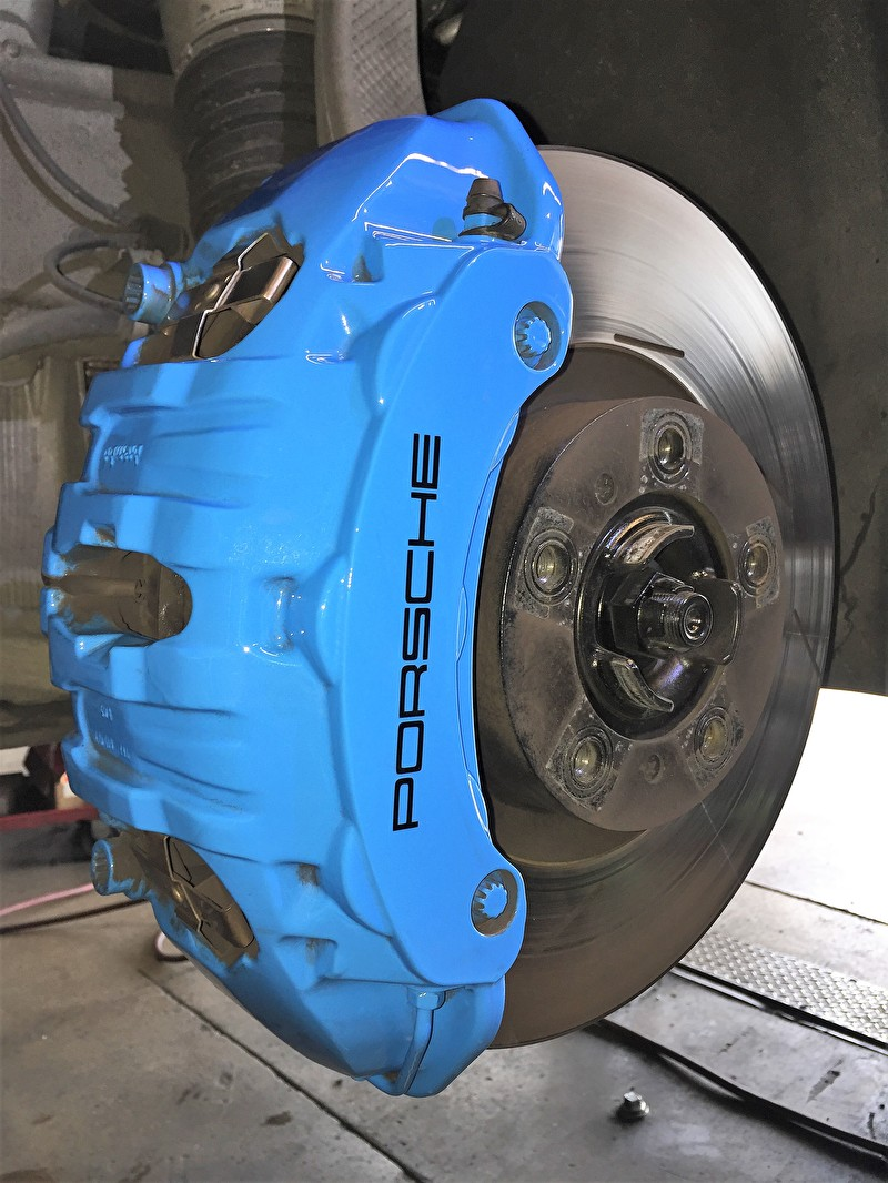 Custom Painted Blue Porsche Brake Caliper   Variety of Colors Available