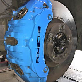 Custom Painted Blue Porsche Brake Caliper | Variety of Colors Available