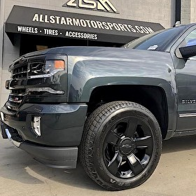 2017 Chevrolet Silverado 1500 | Black Powder Coated Wheels